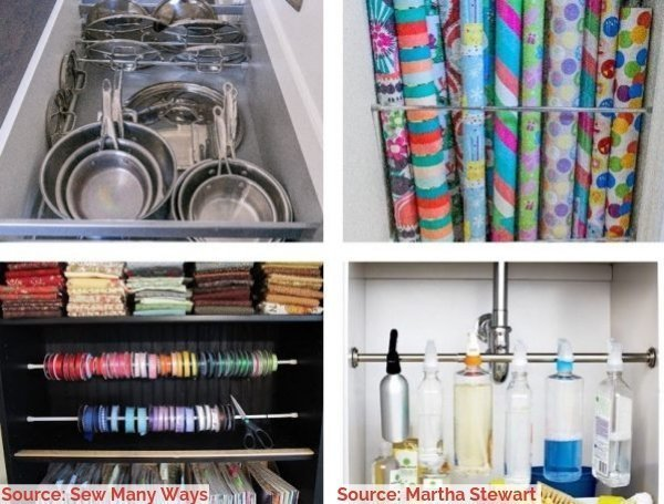 Source  Martha Stewart - Save Space, Time, Money and Frustration with Vertical Storage