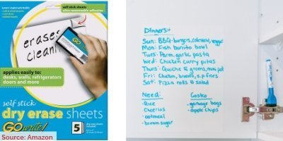2Adhesive Dray Erase Board Final - 10 Budget Home Organizing Products Under $20.00
