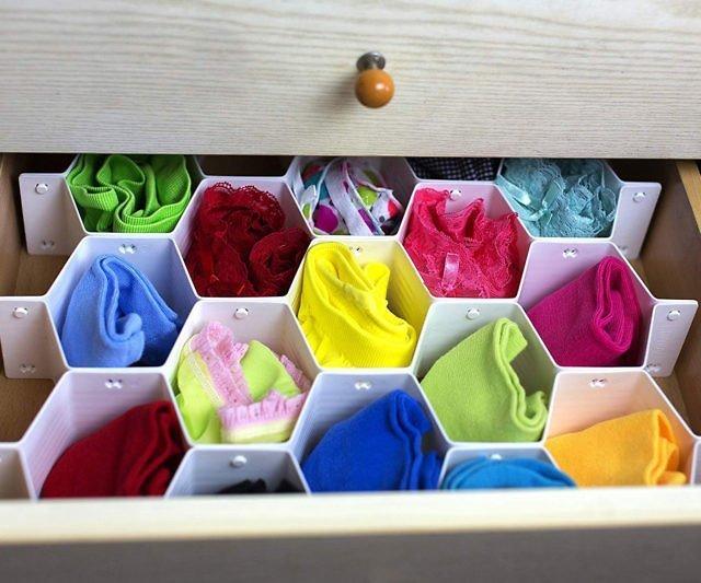 4Honeycomb drawer organizer mygift 640x533 - 10 Budget Home Organizing Products Under $20.00