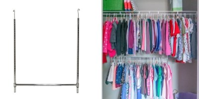 6Double Hanging Rod Final - 10 Budget Home Organizing Products Under $20.00