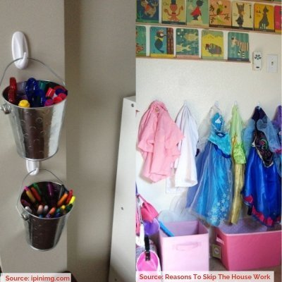 Copy of 25 WAYS TO ORGANIZE WITH COMMAND HOOKS Image 14 1 - ORGANIZING FAVOURITES: 25 WAYS TO ORGANIZE WITH COMMAND HOOKS