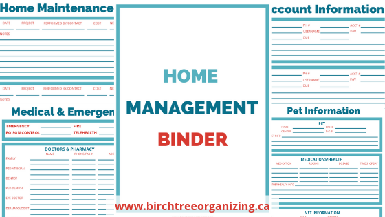 photograph about Life Binder Printables named BirchTree Arranging Purchase Geared up With a Property Manage
