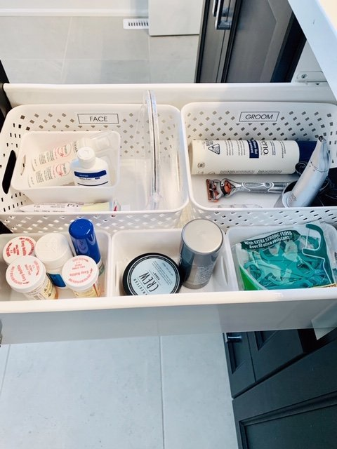 bathroom drawer after side 1 - BATHROOM TOILETRY DRAWER
