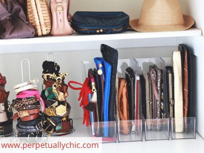 CAnva clutches - ORGANIZING FAVOURITES: 20 WAYS TO ORGANIZE WITH MAGAZINE HOLDERS