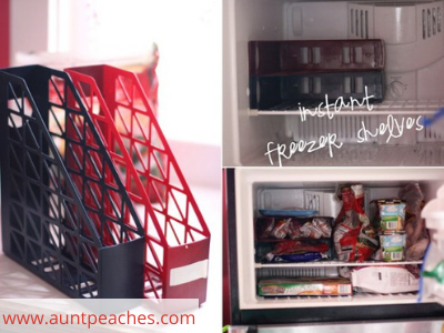 Canva freezer - ORGANIZING FAVOURITES: 20 WAYS TO ORGANIZE WITH MAGAZINE HOLDERS