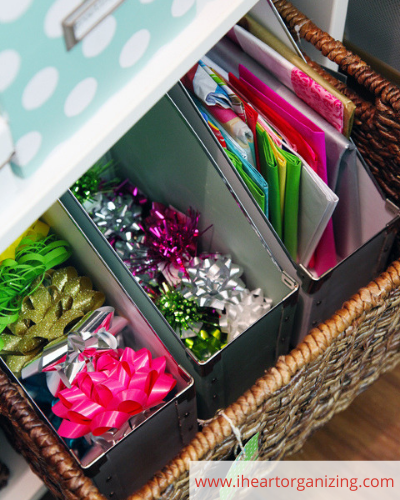 Canva gift wrap - ORGANIZING FAVOURITES: 20 WAYS TO ORGANIZE WITH MAGAZINE HOLDERS