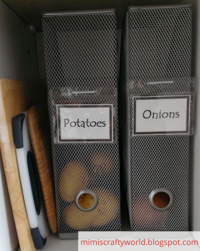 Canva potatoes - ORGANIZING FAVOURITES: 20 WAYS TO ORGANIZE WITH MAGAZINE HOLDERS