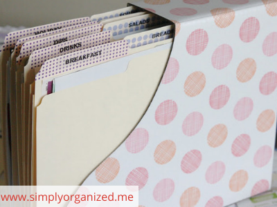 Canva recipes - ORGANIZING FAVOURITES: 20 WAYS TO ORGANIZE WITH MAGAZINE HOLDERS