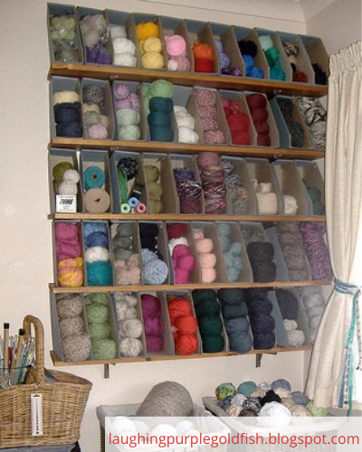 Canva yarn - ORGANIZING FAVOURITES: 20 WAYS TO ORGANIZE WITH MAGAZINE HOLDERS