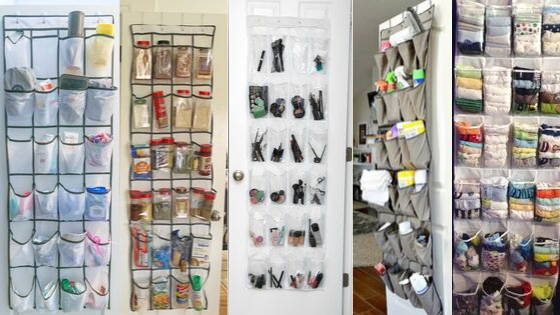 Organizing with Hanging Shoe Pockets
