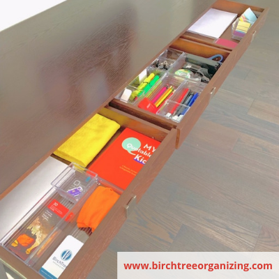 desk drawers - Organize Your Busy Family With A Home Command Centre