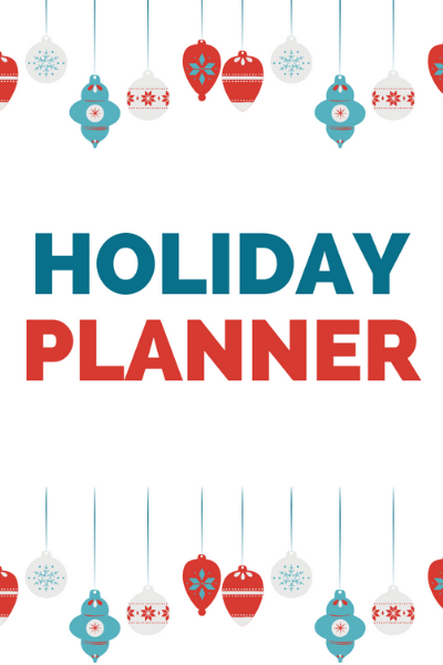 Canva Cover page - Get Organized and Enjoy Your Holidays With This Free Holiday Planner