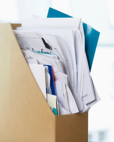 Messy file box - HOW TO QUICKLY SORT THROUGH PAPER CLUTTER