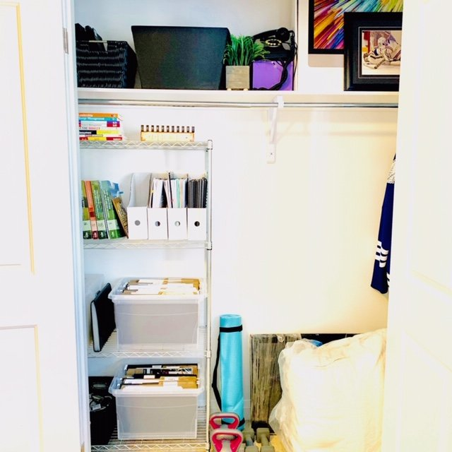 after front view - OFFICE CLOSET