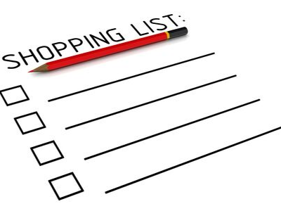 shopping list - 10 Things To Do NOW To Prepare For The Holidays