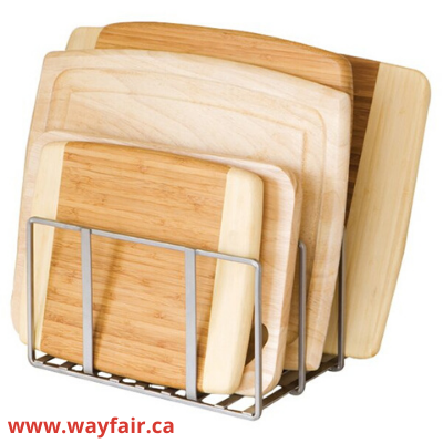 Canva cutting boards - ORGANIZING FAVOURITES: 15 WAYS TO ORGANIZE WITH BAKEWARE RACKS