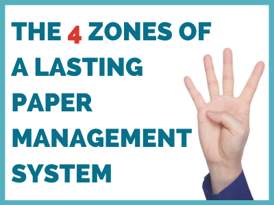 The 4 zones - HOW TO CREATE A LASTING HOUSEHOLD PAPER SYSTEM