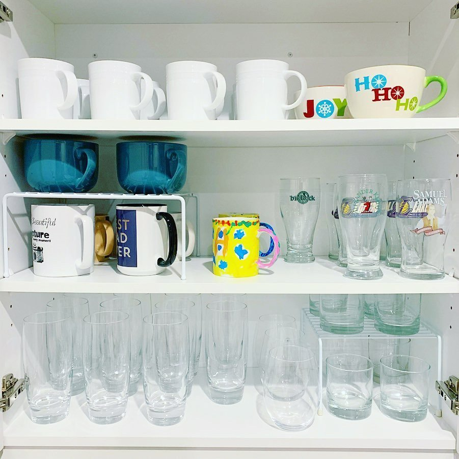 glasses after - KITCHEN CUPBOARDS