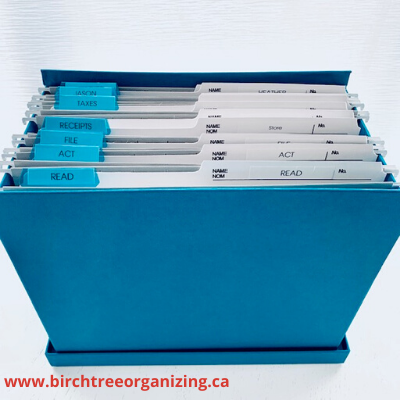 www.birchtreeorganizing.ca 10 - 6 TIPS FOR EASY PAPER ORGANIZATION MAINTENANCE