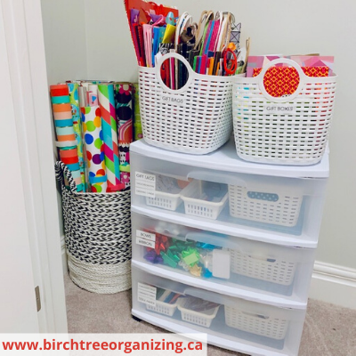 Canva cart and basket - HOW TO MAKE A BUDGET-FRIENDLY GIFT WRAP CART