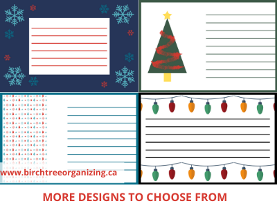 Canva labels - 11 TIPS TO ORGANIZE & STORE HOLIDAY DECORATIONS