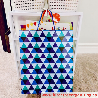 Canva large bags - HOW TO MAKE A BUDGET-FRIENDLY GIFT WRAP CART