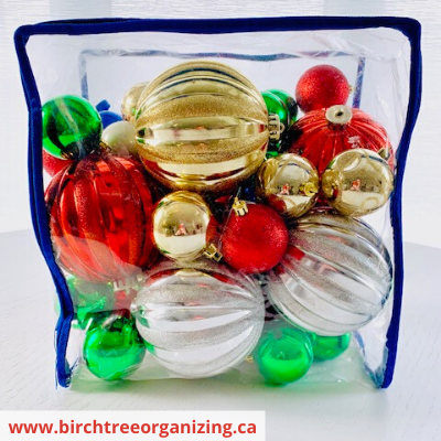 Canva ornament bag - 10 TIPS TO ORGANIZE & STORE HOLIDAY DECORATIONS