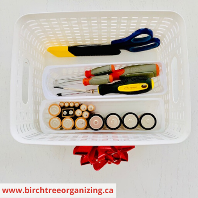 Canva package opening basket - 13 EASY TIPS FOR A STRESS-FREE CHRISTMAS MORNING