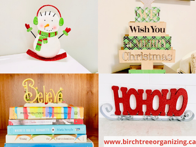 Canva photo of decorations - 11 TIPS TO ORGANIZE & STORE HOLIDAY DECORATIONS