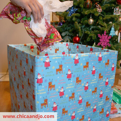 Canva wrapped box - 13 EASY TIPS FOR A STRESS-FREE CHRISTMAS MORNING