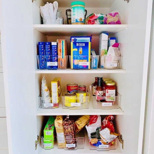 Deep pantry full after - KITCHEN MAKEOVER