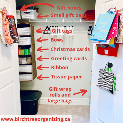 gift wrap rolls and large bags 2 - HOW TO MAKE A BUDGET-FRIENDLY GIFT WRAP CART