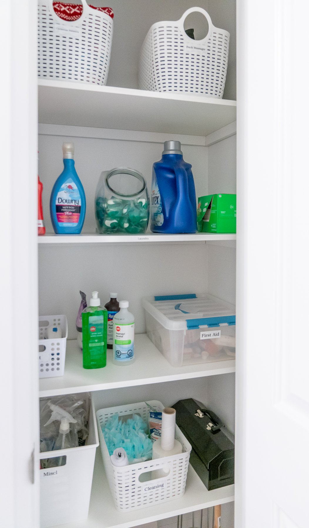 trish closet supplies after - LAUNDRY ROOM CLOSET