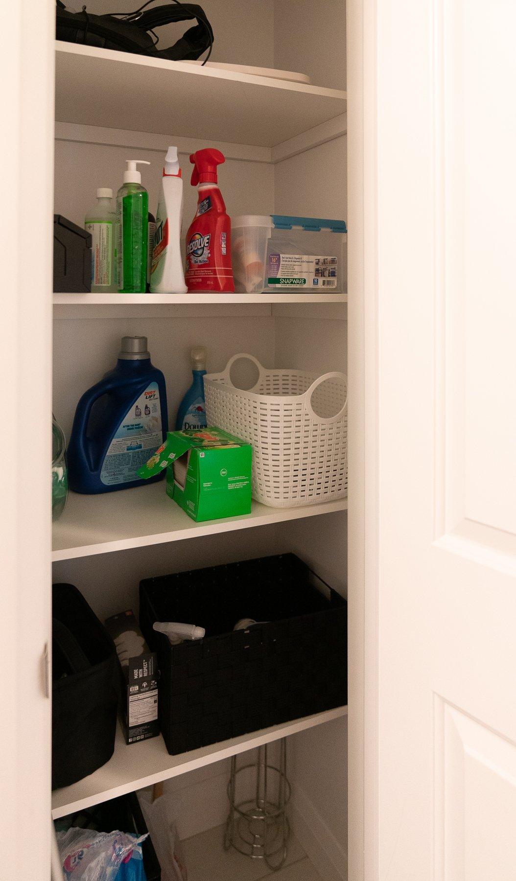 trish closet supplies before - LAUNDRY ROOM CLOSET