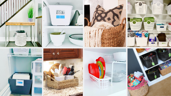 20 Easy Ways To Get Organized With Baskets