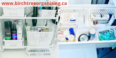 Canva baskets for bathroom organization - ORGANIZING FAVOURITES: 20 WAYS TO GET ORGANIZED WITH BASKETS