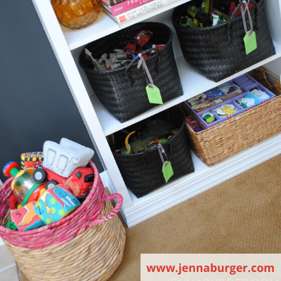 Canva baskets for toy storage - ORGANIZING FAVOURITES: 20 WAYS TO GET ORGANIZED WITH BASKETS