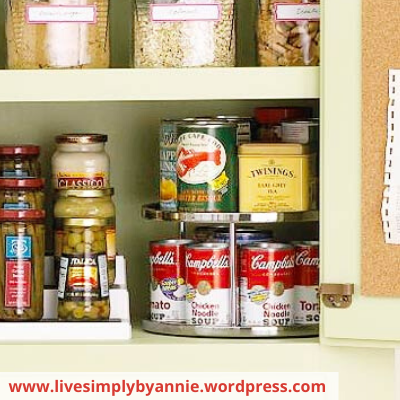Canva canned goods - ORGANIZING FAVOURITES: 16 WAYS TO ORGANIZE WITH TURNTABLES