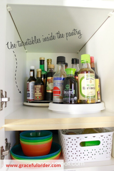 Canva deep pantry - ORGANIZING FAVOURITES: 16 WAYS TO ORGANIZE WITH TURNTABLES