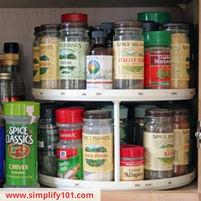 Canva spices - ORGANIZING FAVOURITES: 16 WAYS TO ORGANIZE WITH TURNTABLES