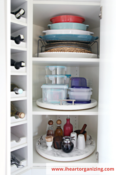 Canva upper corner cabinet - ORGANIZING FAVOURITES: 16 WAYS TO ORGANIZE WITH TURNTABLES
