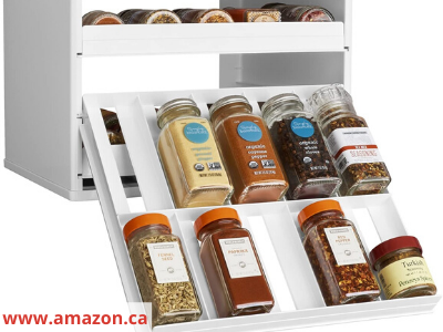 Canva Youcopia pull out drawer - 26 EASY WAYS TO ORGANIZE YOUR SPICES
