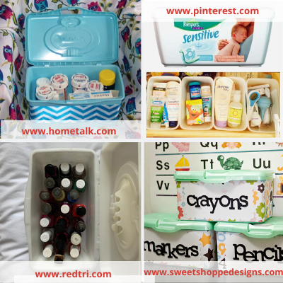 Canva baby wipes - ORGANIZING FAVOURITES: NO-COST ORGANIZING IDEAS USING WHAT YOU HAVE
