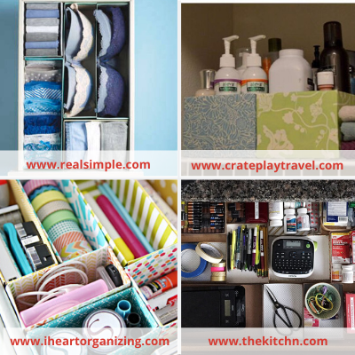 Canva boxes - ORGANIZING FAVOURITES: NO-COST ORGANIZING IDEAS USING WHAT YOU HAVE