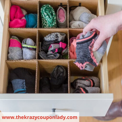 Canva cardboard drawer dividers - ORGANIZING FAVOURITES: NO-COST ORGANIZING IDEAS USING WHAT YOU HAVE