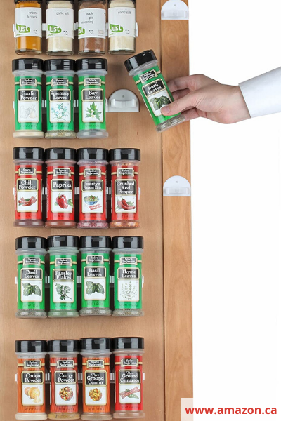 Canva cupboard clips - 26 EASY WAYS TO ORGANIZE YOUR SPICES