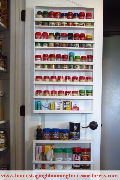 Canva door cabinet - 26 EASY WAYS TO ORGANIZE YOUR SPICES