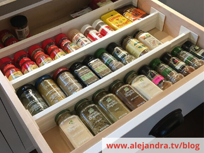 Canva drawer dividers - 26 EASY WAYS TO ORGANIZE YOUR SPICES