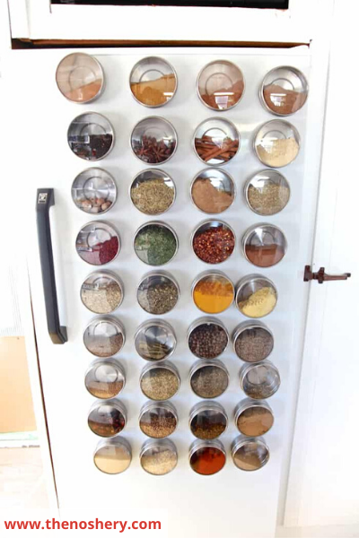 Canva fridge magnetic - 26 EASY WAYS TO ORGANIZE YOUR SPICES