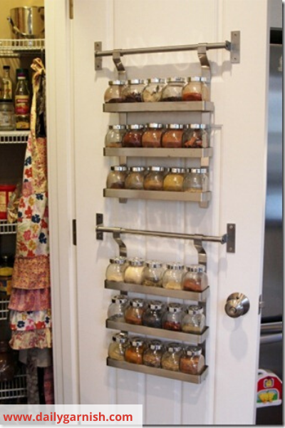 Canva hanigng tiered spice rack - 26 EASY WAYS TO ORGANIZE YOUR SPICES